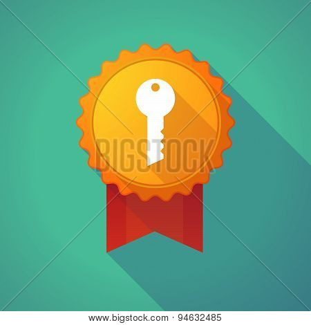 Long Shadow Badge With A Key