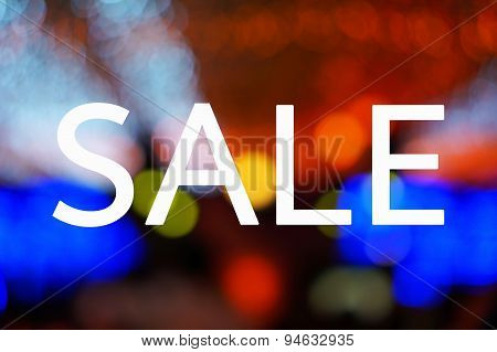 Sale with bokeh
