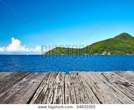 Beautiful landscape at Seychelles, Praslin