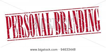 Personal Branding Red Grunge Vintage Stamp Isolated On White Background