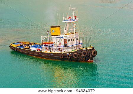 Tugboat In Piraeus, Greece.