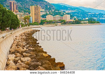 Panoramic View At Monte Carlo