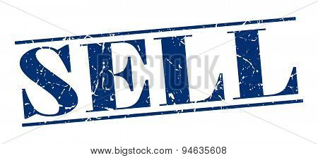 Sell Blue Grunge Vintage Stamp Isolated On White Background