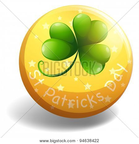 Circular shaped badge of Si. Patricks Day