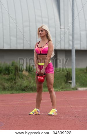 Exercise With Kettle Bell Outdoor