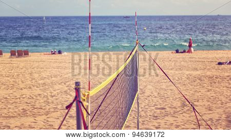 Volley Net On Beach