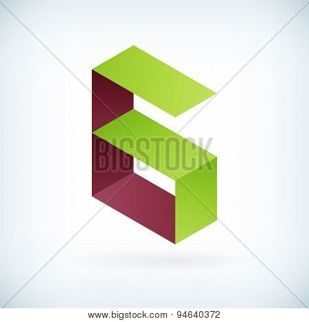 Modern Letter G Icon Flat Design Element Template