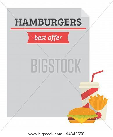 Hamburger best offer template