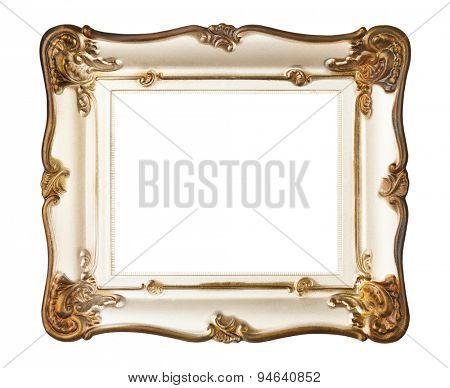 Retro frame - isolated on white background