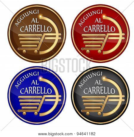 'Aggiungi al Carrello' - Add to cart: Italian icon set