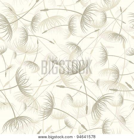 Elegant Seamless Dandelion Pattern