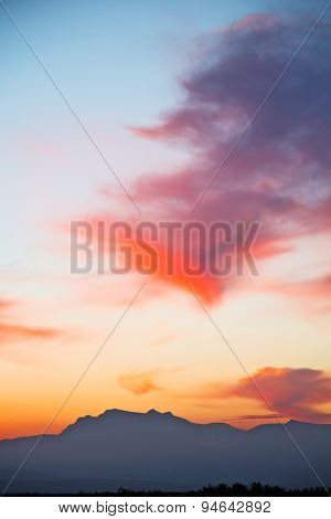 Mountain In Morocco   And  Sunrise