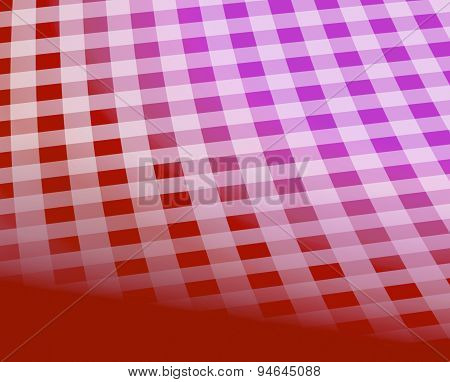 Checkered tablecloth pattern