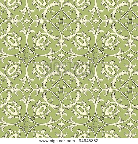 Vector. Seamless Damask Pattern