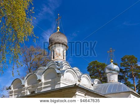 Old church in Museum-Estate Arkhangelskoye near Moscow - Russia