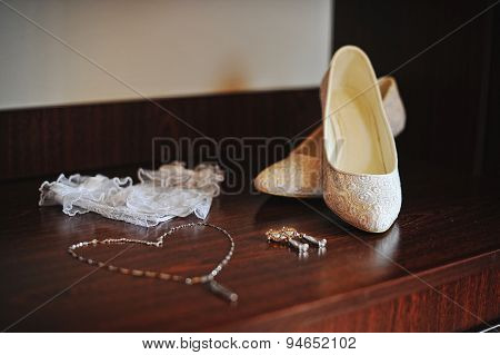 Wedding Shoes, Chainlet, Earrings