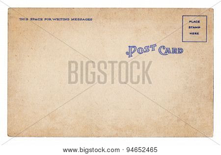 Blank Old Vintage Postcard Isolated