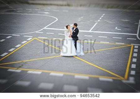 Just Married At The Helipad