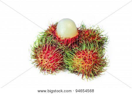 Rambutan ( Nephelium lappaceum), Tropical fruit
