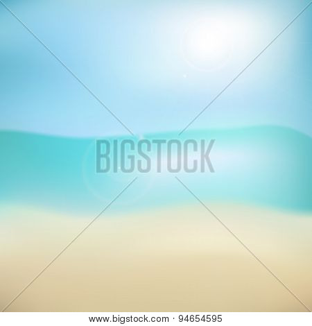 Blurry Beach Background
