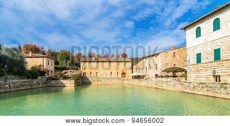 Bagno Vignoni Medieval Village In Tuscany
