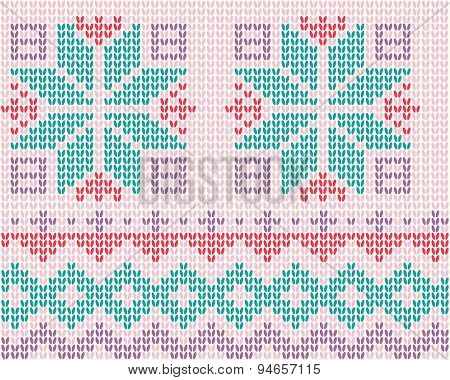 Knitted Background Scandinavian Style