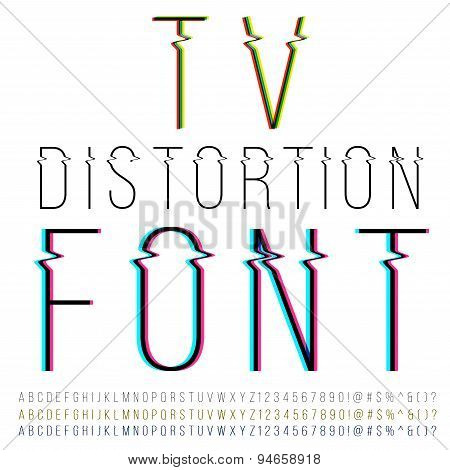 Distortion font