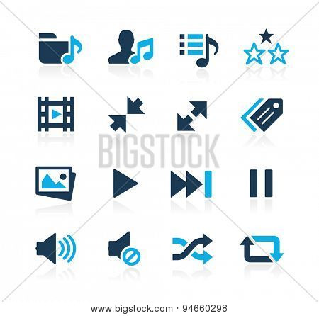 Media Player Icons // Azure Series