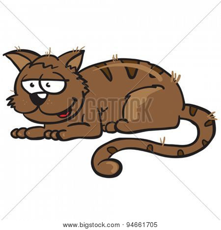 cat cartoon illustration isolated on white