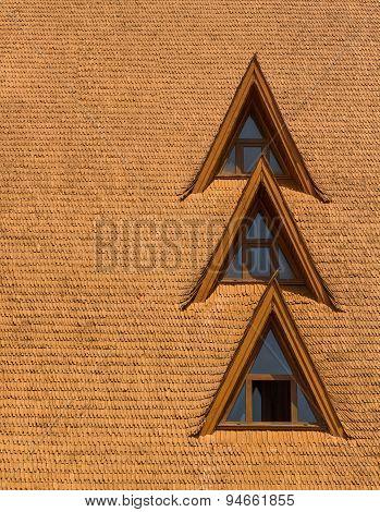 Windows On A Wood Shingle Roof