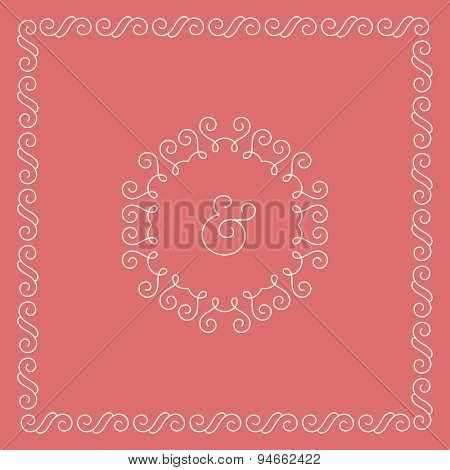 Template of wedding invitation or celebrate card. Decoration elements, floral ornaments. Vector illustration