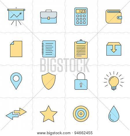 Universal flat icons. Flat style