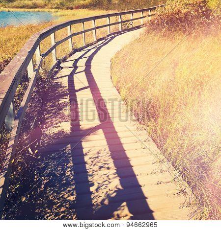 Board walk with Instagram effect