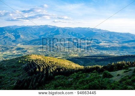 Macedonian landscape from Vodno mountain