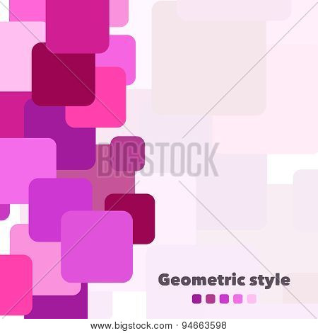 Abstract geometric vector background with place for your text. Illustration for web design, prints e