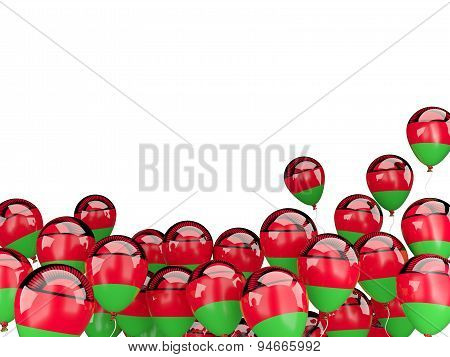 Flying Balloons With Flag Of Malawi