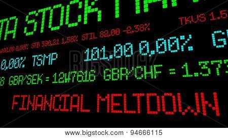 Financial Meltdown Stock Ticker