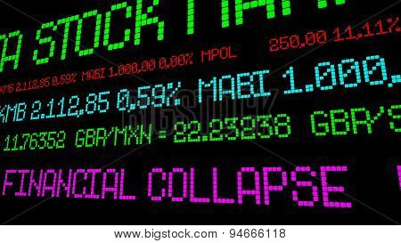 Financial Collapse Stock Ticker