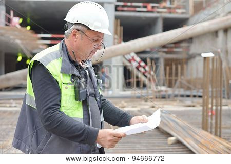 Senior Foreman At Consruction Site