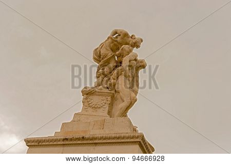 Statue In Monument To Victor Emanuel Ii, In Rome, Italy