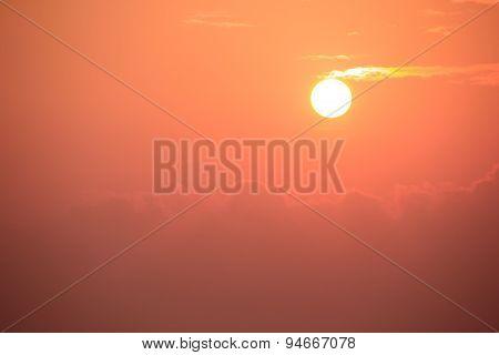 sunset, evening glow Ceylon, Sri Lanka