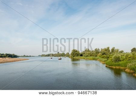 Small Ships In The Waters Of A Nature Reserve