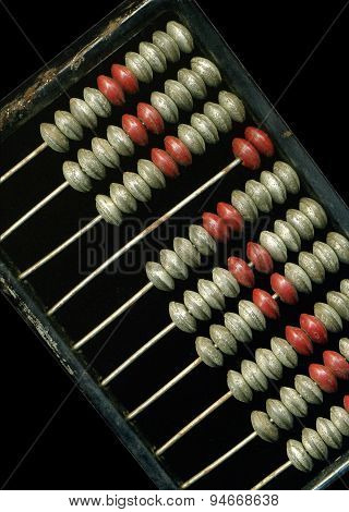 Old metal abacus.
