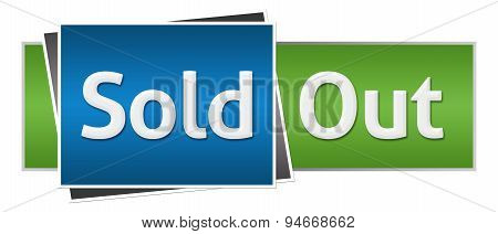 Sold Out Blue Green Horizontal
