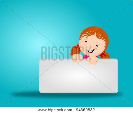 Girl With Blue Background