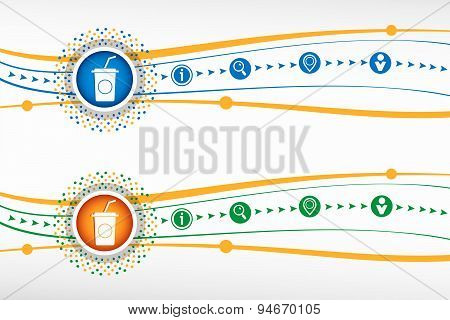 Soft Drink Icon On Background For Banner, Web, Site, Design, Advertising, Print, Poster. Vector Temp