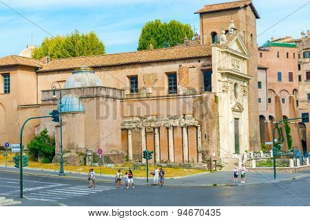 Church Of San Nicola In Carcere In Rome, Italy