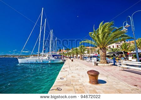 Rogoznica Sailing Destination In Dalmatia Waterfront View