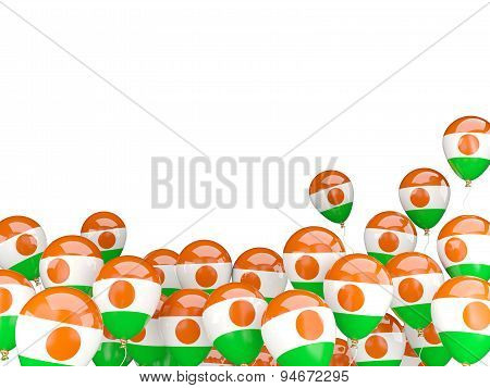 Flying Balloons With Flag Of Niger