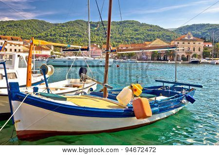 Old Fishermen Harbor Of Stari Grad